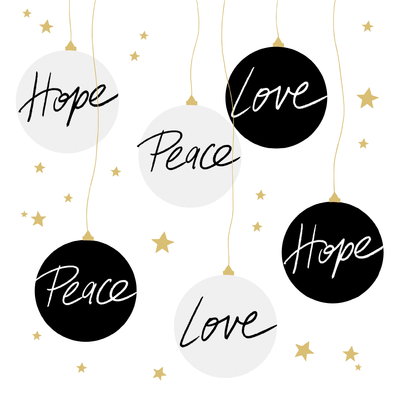 Hope & Peace Napkin 33x33