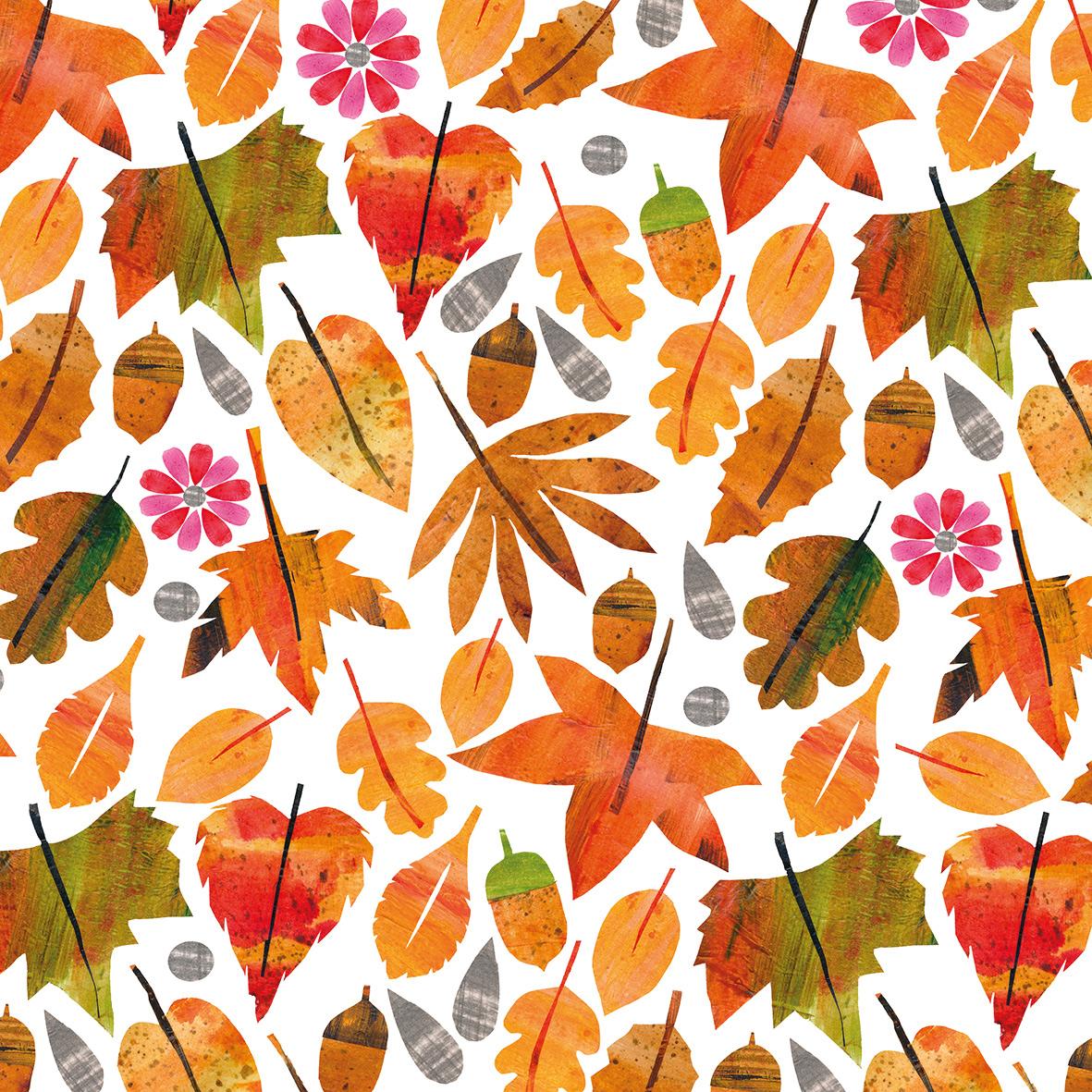 Autumn Leaves Napkin 25x25