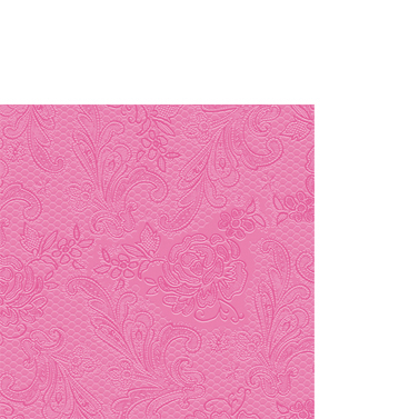 Lace Embossed pink 25x25cm
