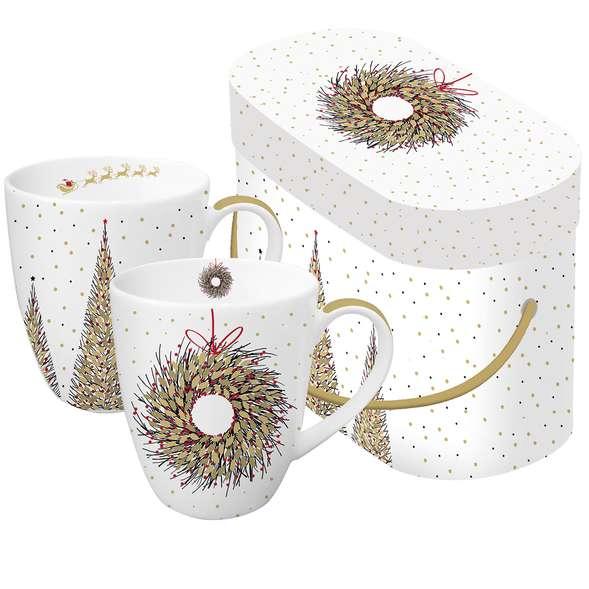 Joyeux&Couronne d´Or Real Gold 2 Mug Set GB