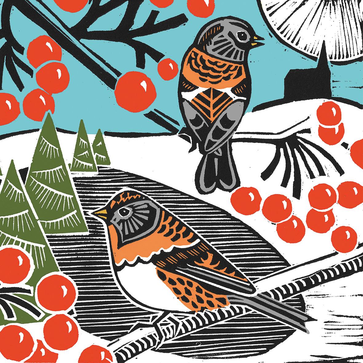Winter Birds Napkin 33x33