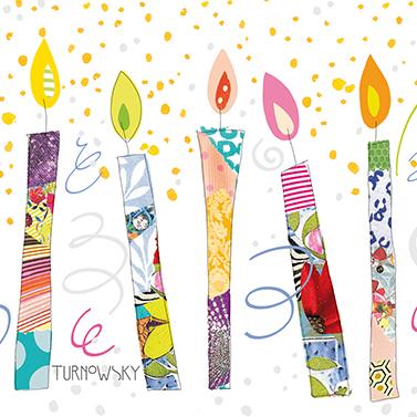 Birthday Candles 33x33 cm