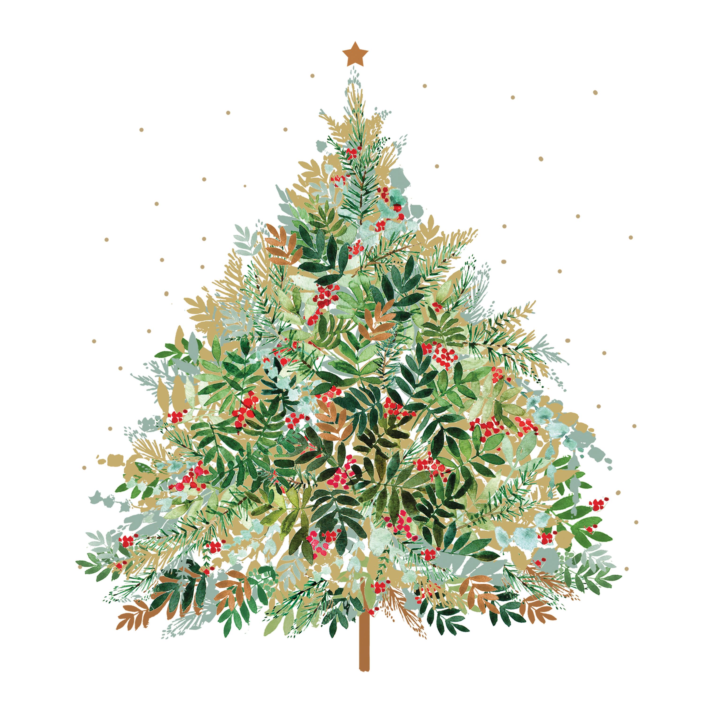 Christmas Hill Tree Napkin 25x25