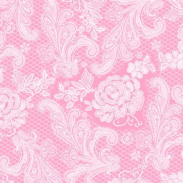 Lace Royal pastel pink white 33x33cm