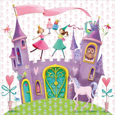 Princess Castle 33x33cm