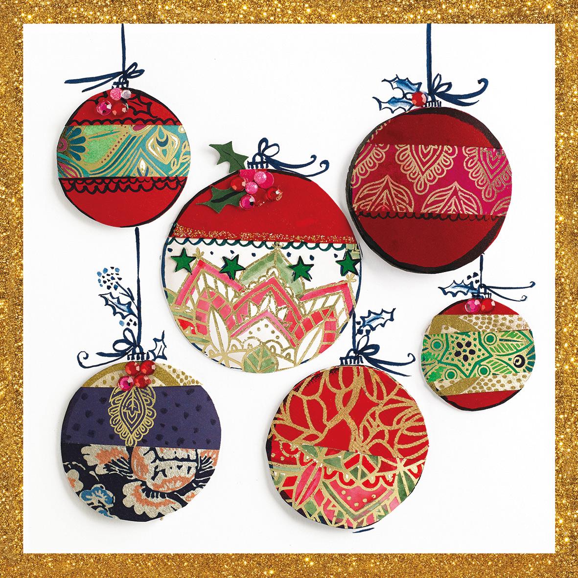 Christmas Ornaments Napkin 25x25