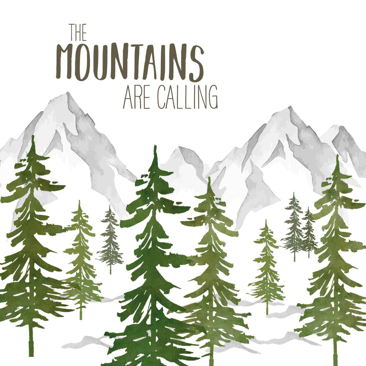 Adventure Mountains Napkin 33x33
