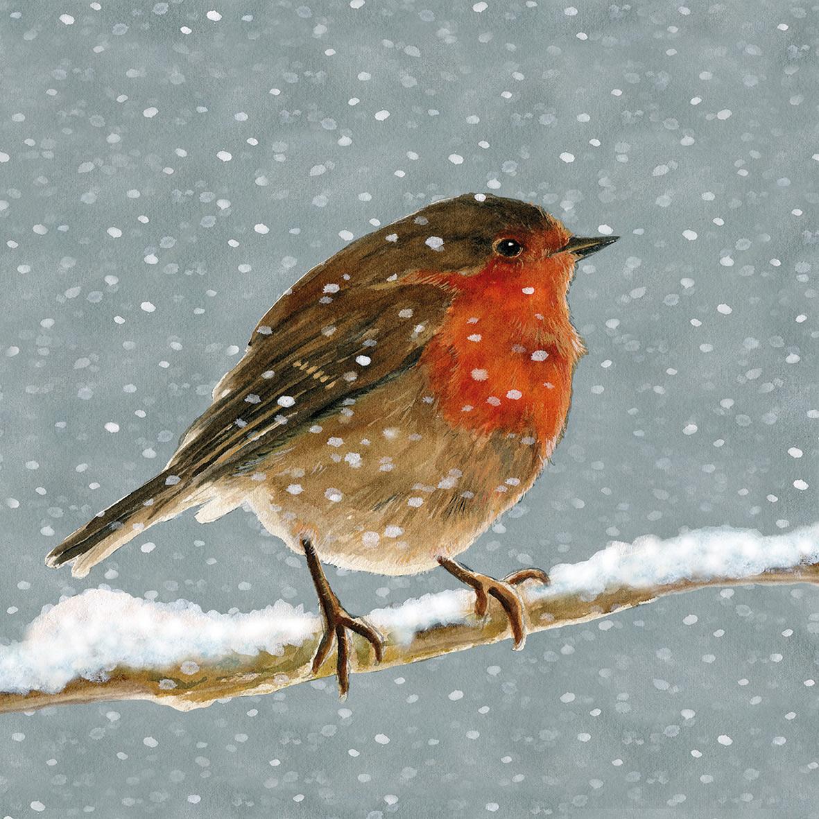 Snow is falling Napkin 33x33