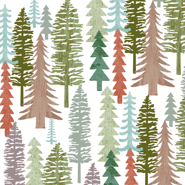 Forest Napkin 25x25