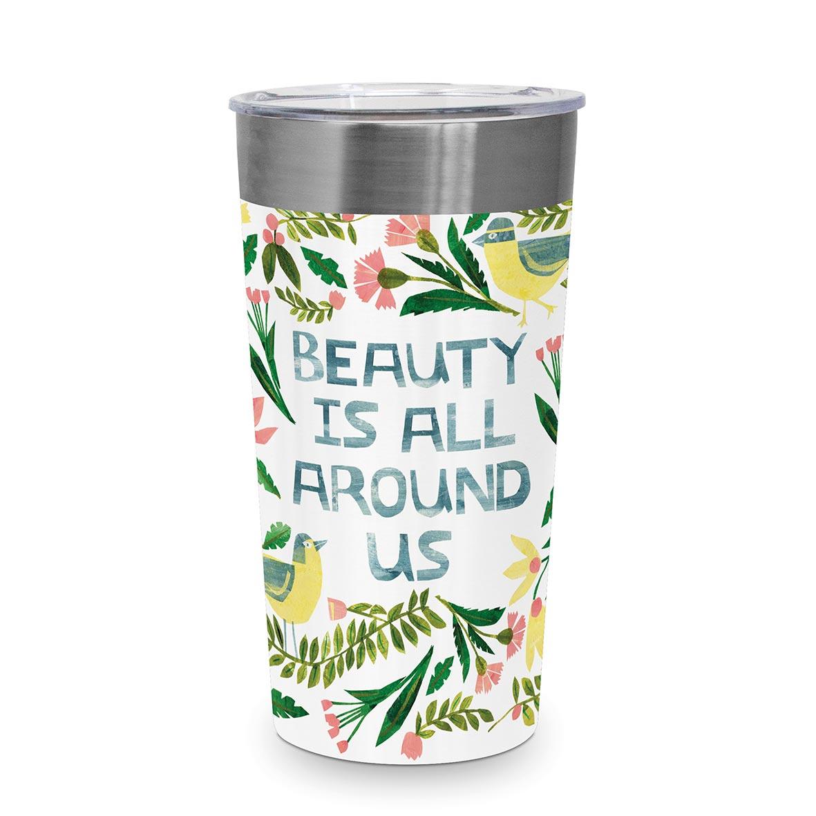 Beauty is around Steel Travel Mug