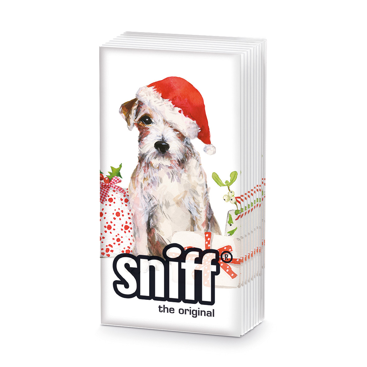 Christmas Pup HandkerchiefSniff
