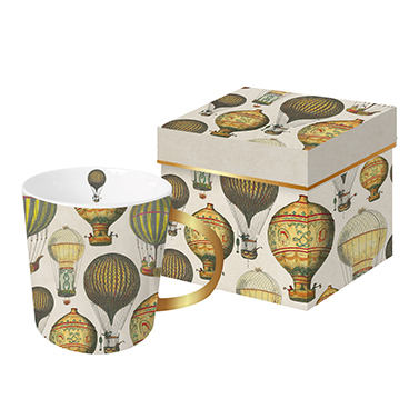 Trend Mug GB Mongolfiere real gold