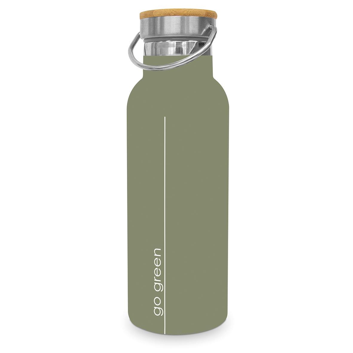 Pure Go Green Steel Bottle 0,50