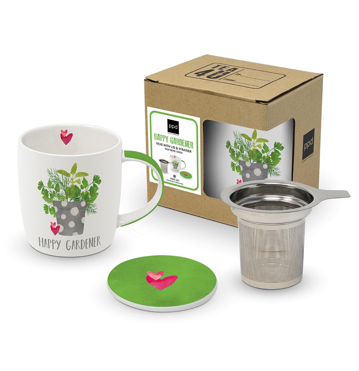 Mug Lid & Strainer CB Happy Gardener