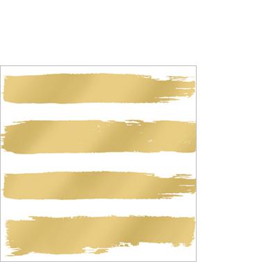 Fashion Stripes gold 25x25cm