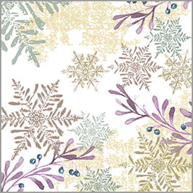 Snowflakes and Leaves 33x33 cm
