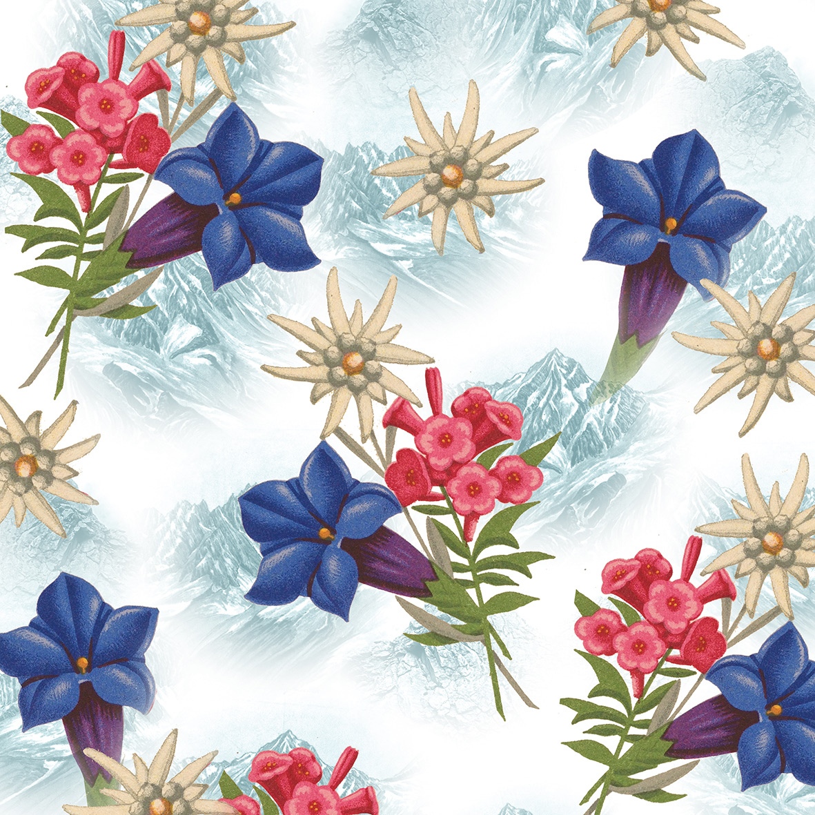 Alpine Flowers Napkin 33x33