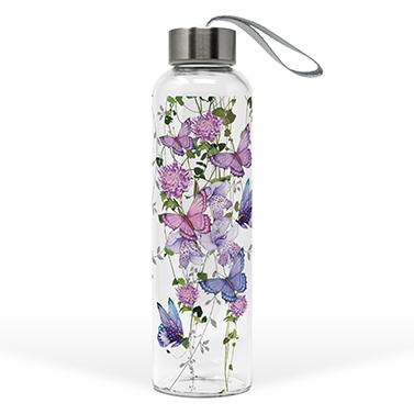 Glass Bottle Butterfly Splash