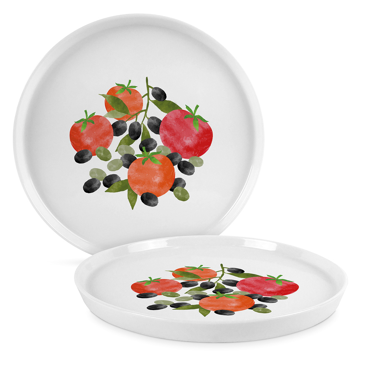 Tomatoes & Olives Trend Plate 27