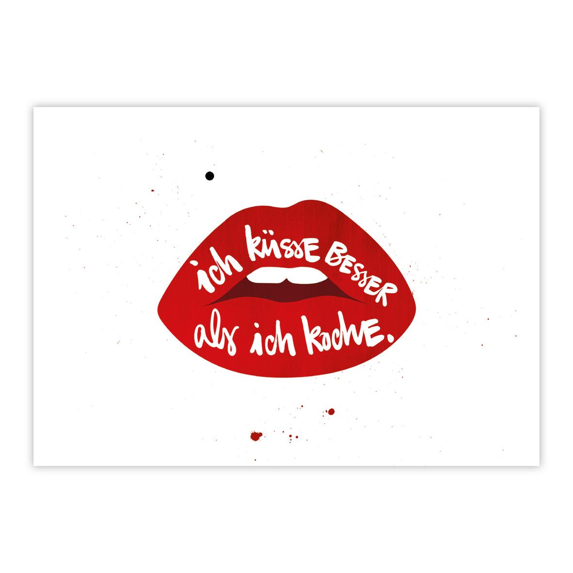 Ich küsse besser Postcard
