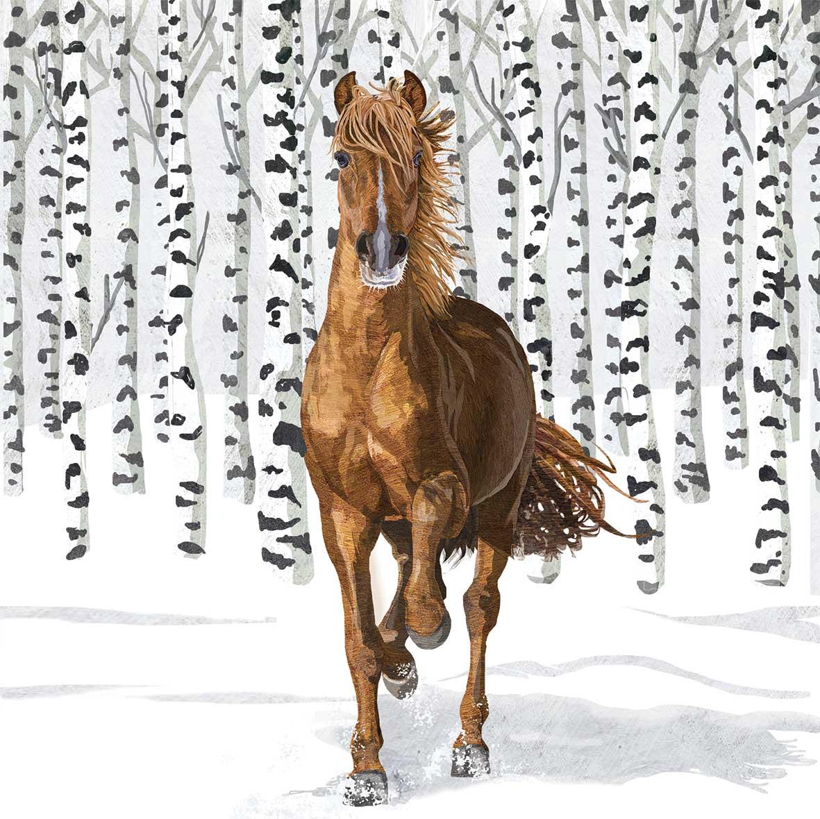 Wilderness Horse Napkin 33x33