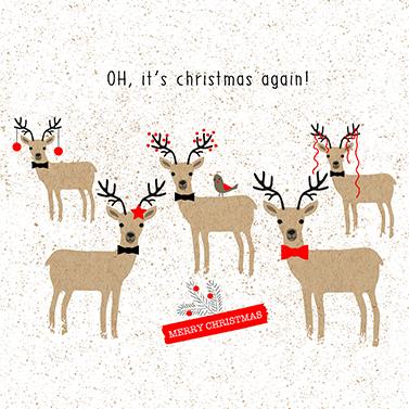 Oh, Christmas again! 33x33 cm