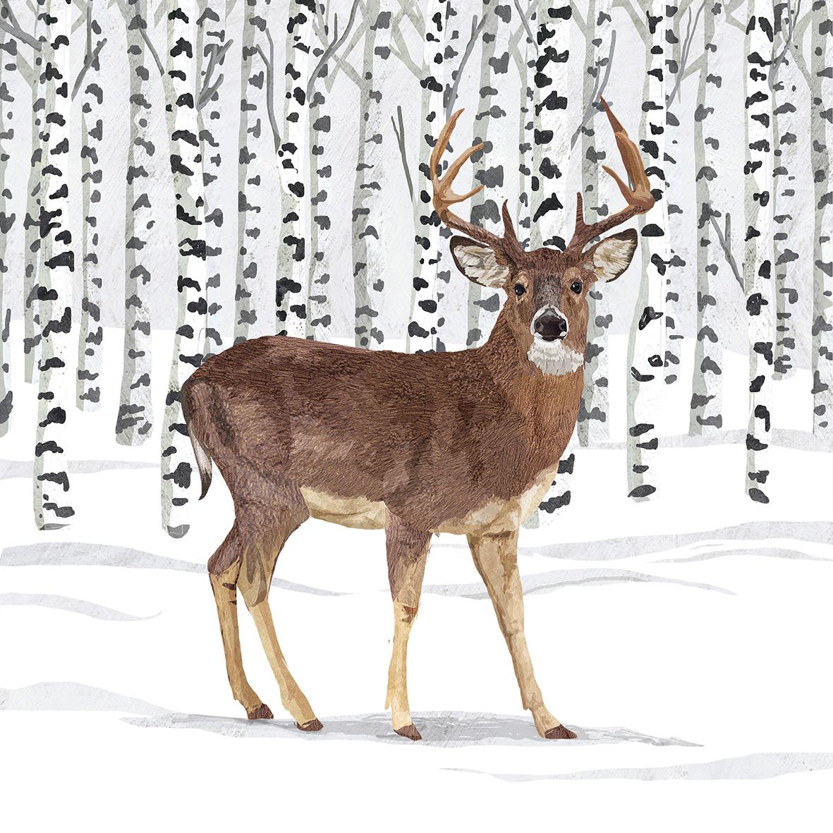 Wilderness Stag Napkin 25x25