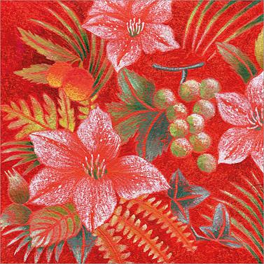 Fiore rosso 33x33 cm