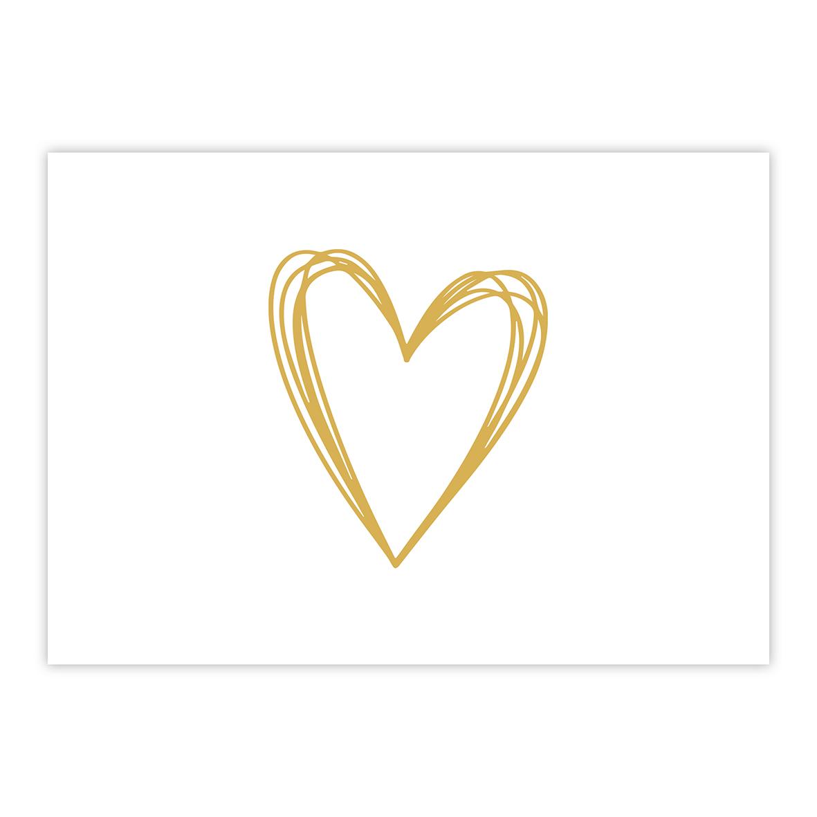 Pure Heart gold Postcard