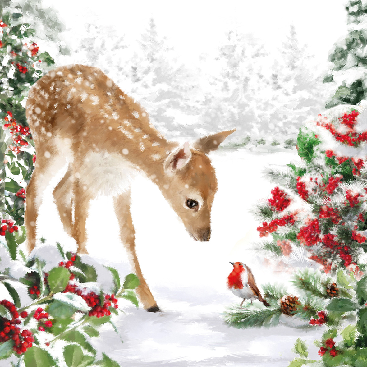 Bambi Napkin 25x25