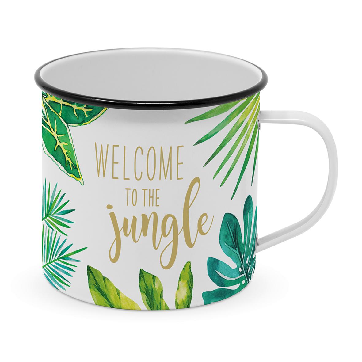 Happy Metal Mug Jungle