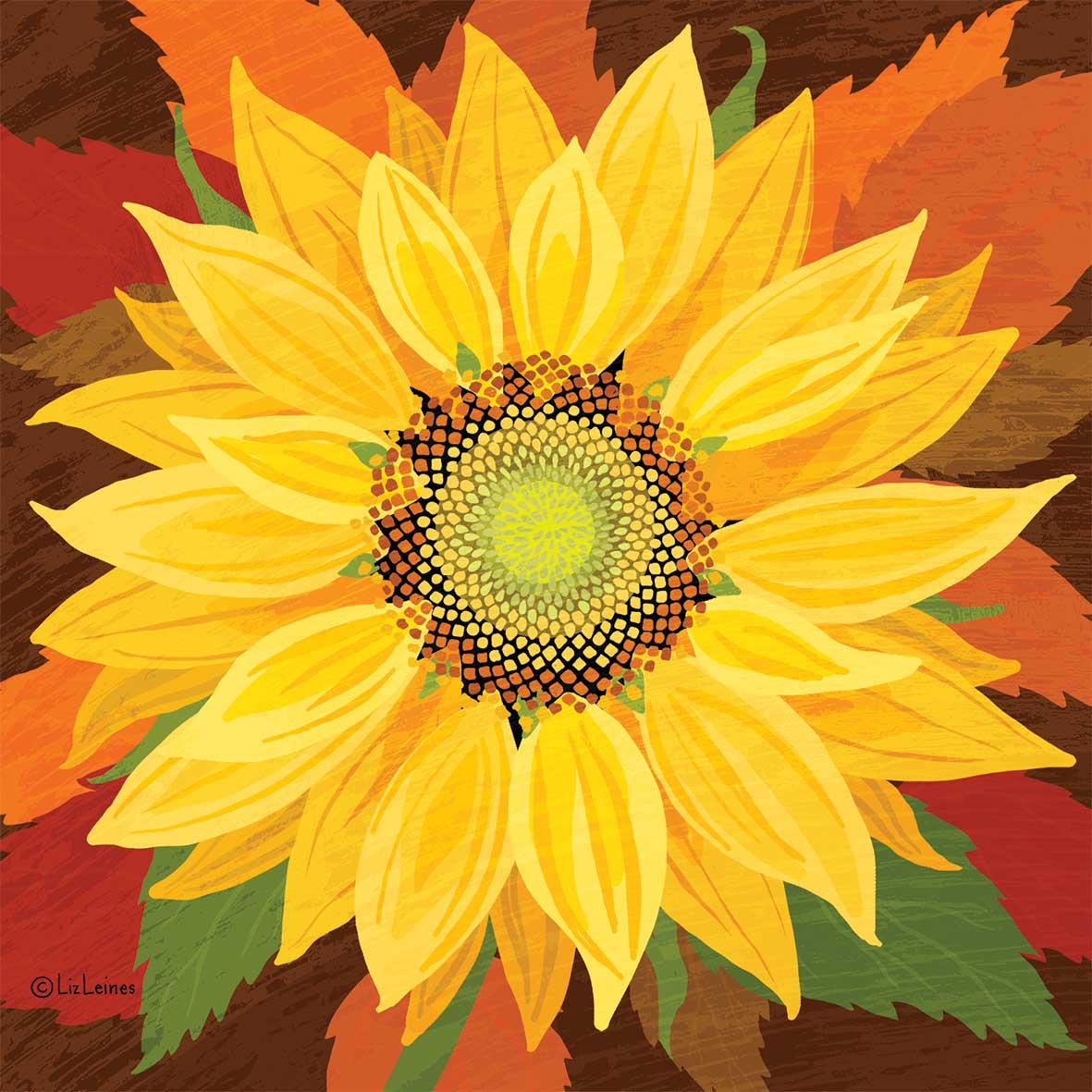 October Sunflower Napkin 33x33