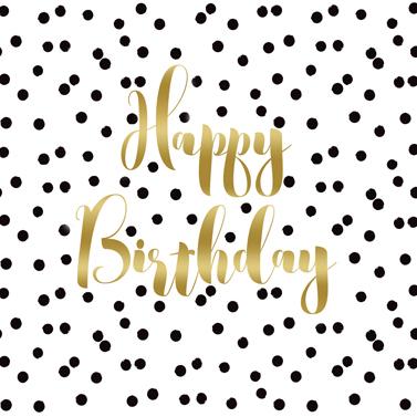 Birthday Confetti 33x33 cm