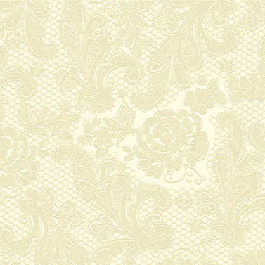 Lace embossed ivory  33x33