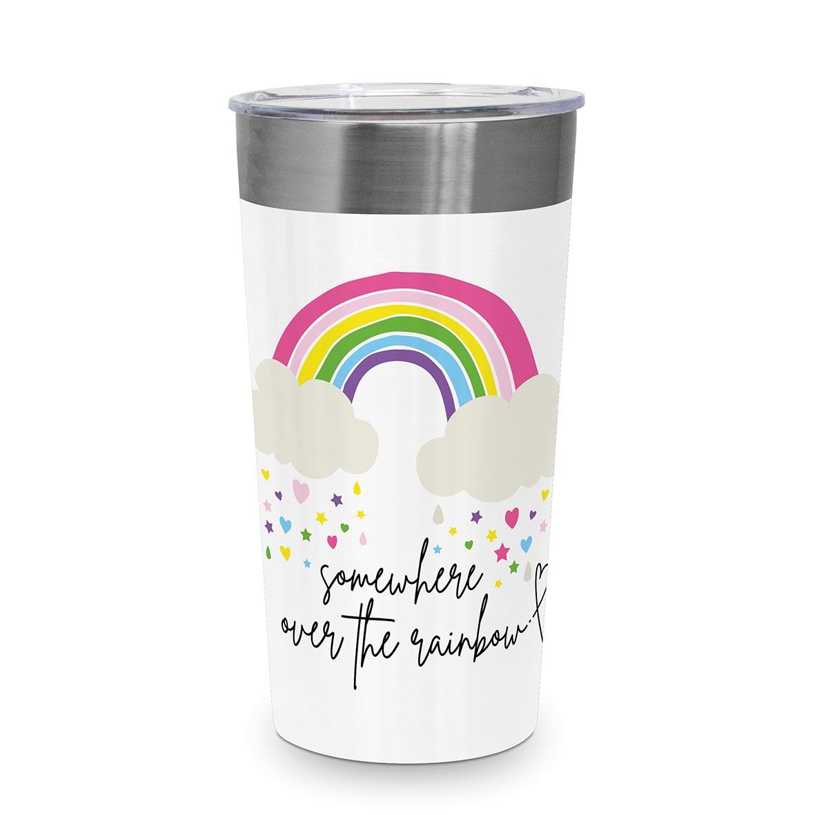 Rainbow Steel Travel Mug