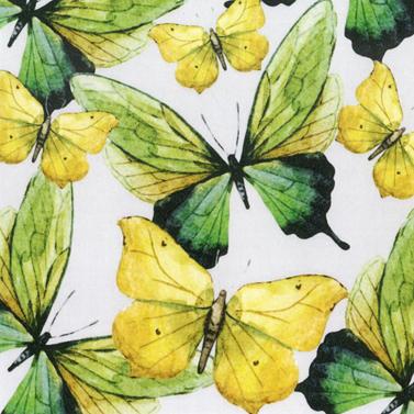 Green Butterflies 33x33 cm