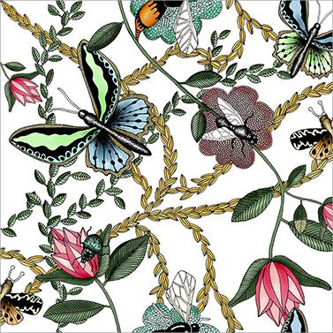 Bugs & Butterflies 33x33 cm