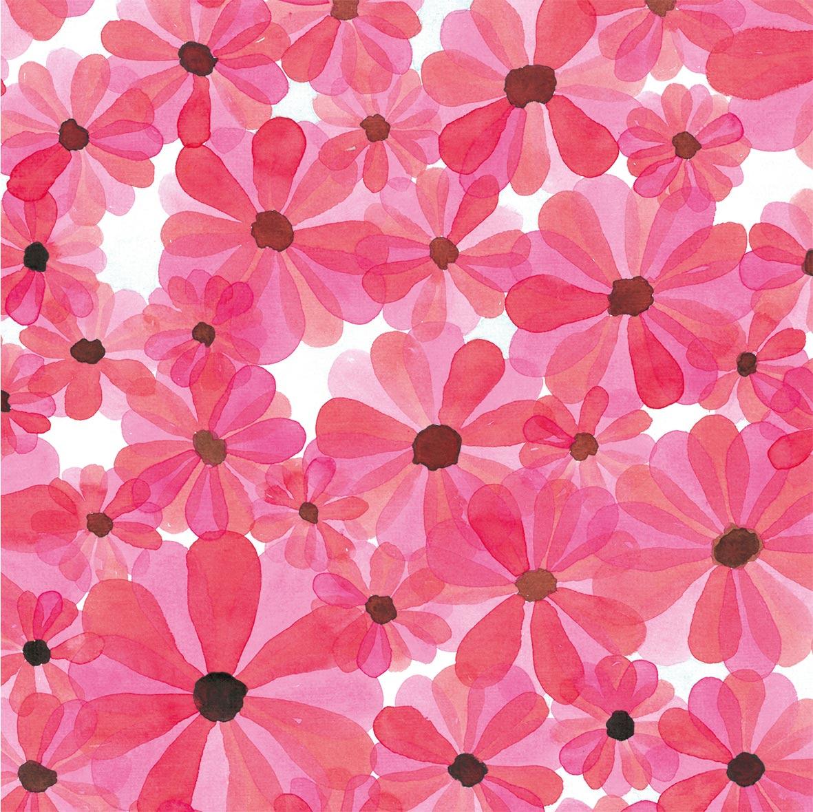 Pink Flush33x33 cm