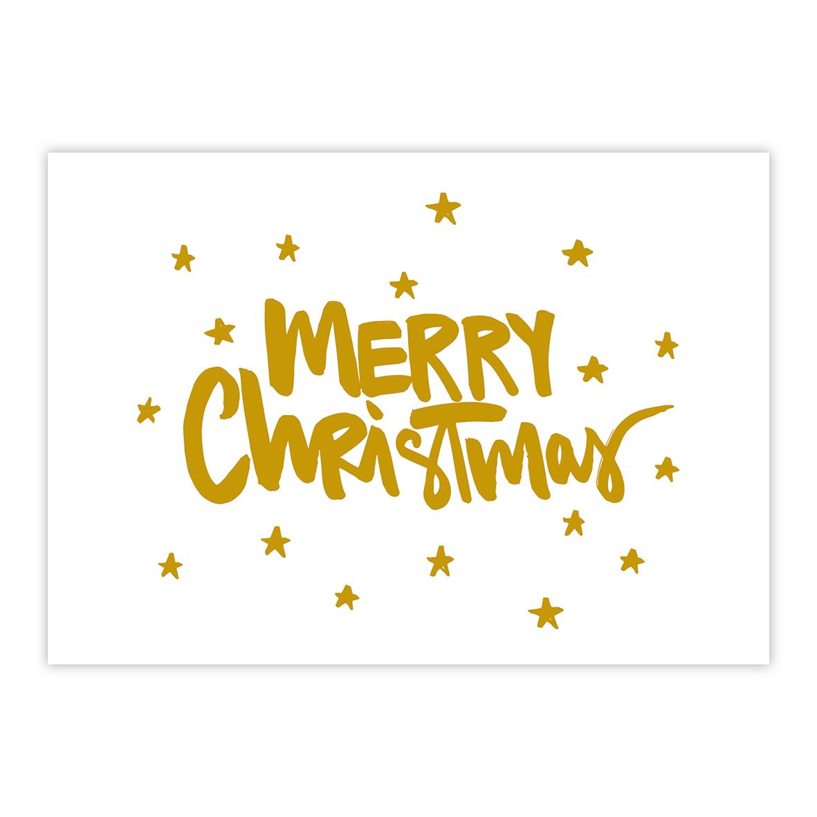 Merry Christmas gold Postcard