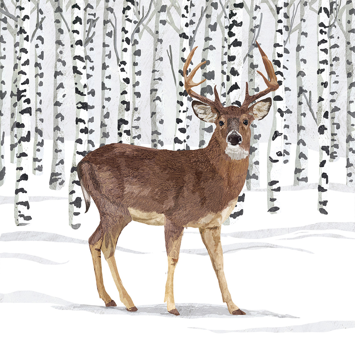 Wilderness Stag Napkin 33x33