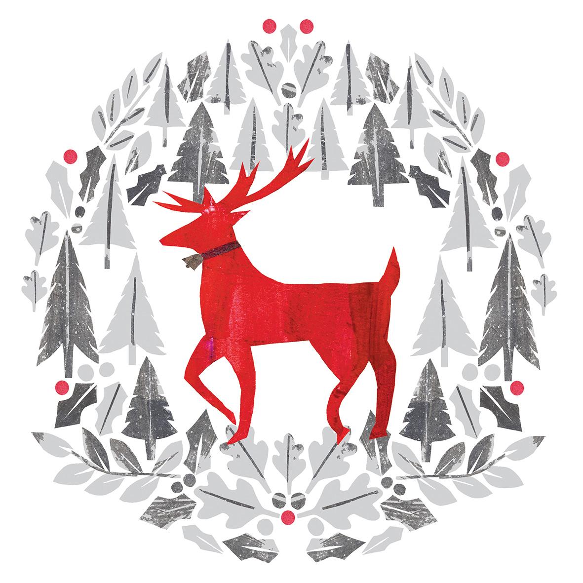 Silver Deer Napkin 33x33