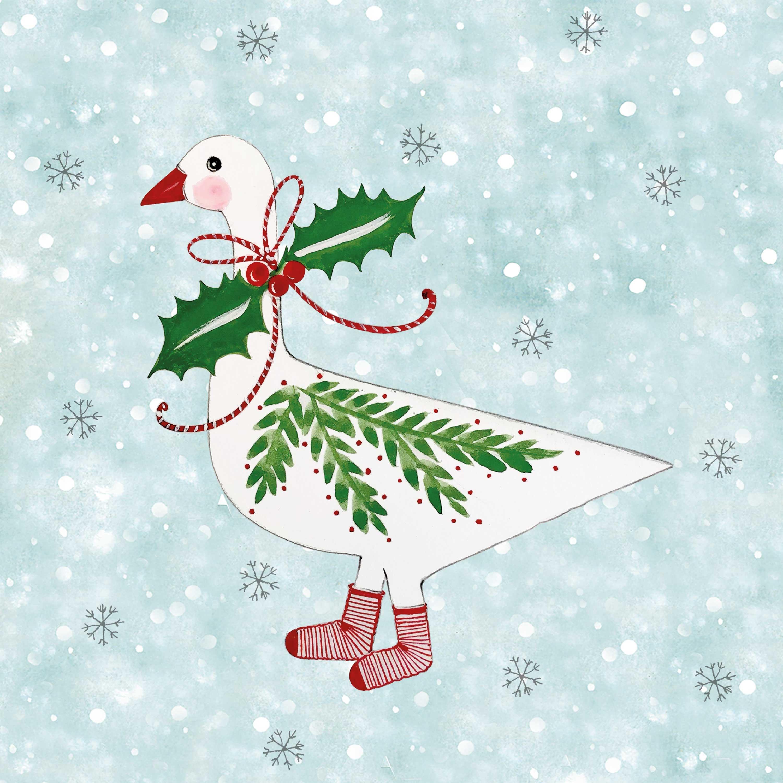Christmas Goose Napkin 33x33