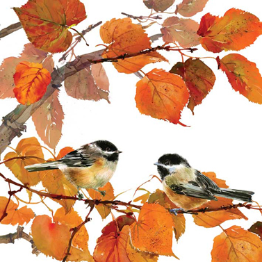 Autumn Birds 33x33cm