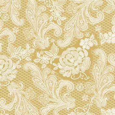 Lace Royal gold white 33x33 cm