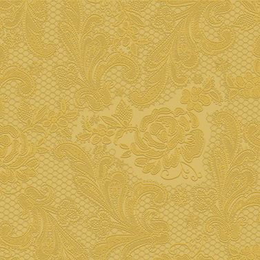 Lace embossed gold  33x33
