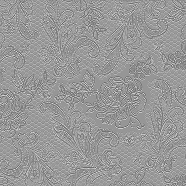 Lace embossed silver 33x33
