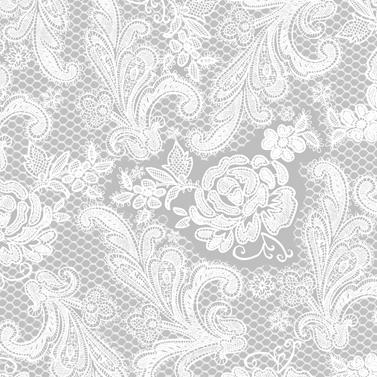 Lace Royal silver white  33x33 cm