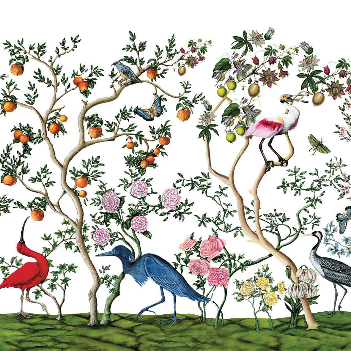 Bird Chinoiserie Napkin 25x25