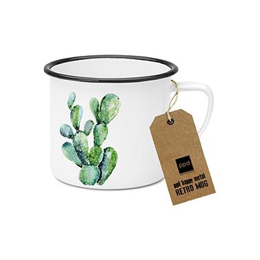 Happy Metal Mug Cactus