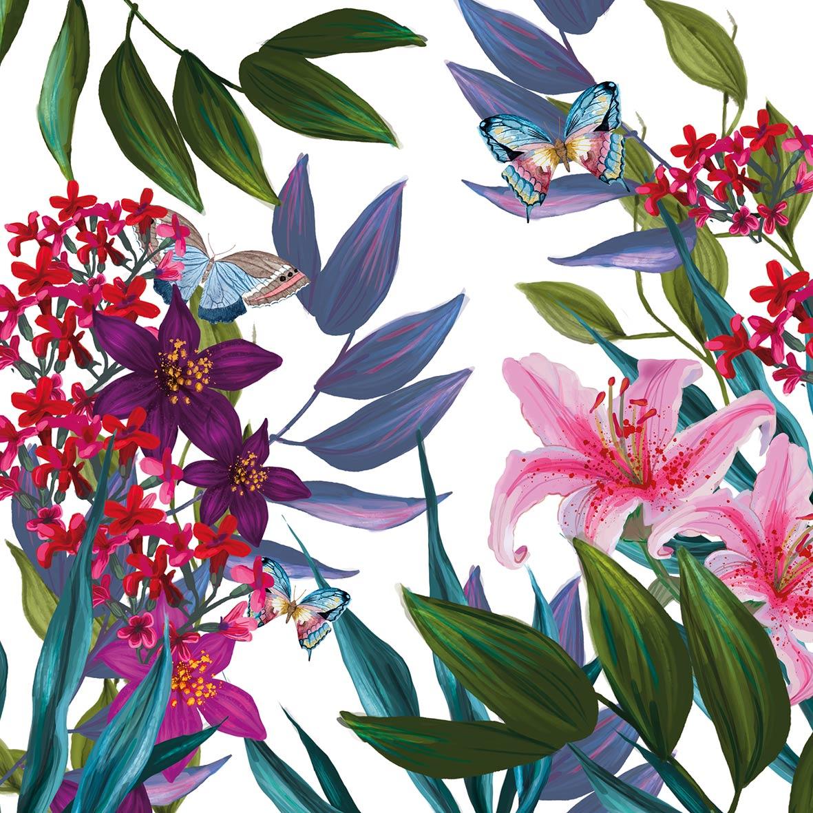 Tropical Lilies 33x33 cm